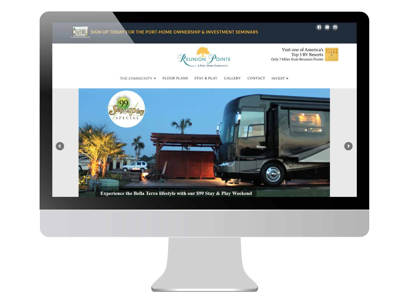 Reunion Pointe RV Port-Home community website hero image