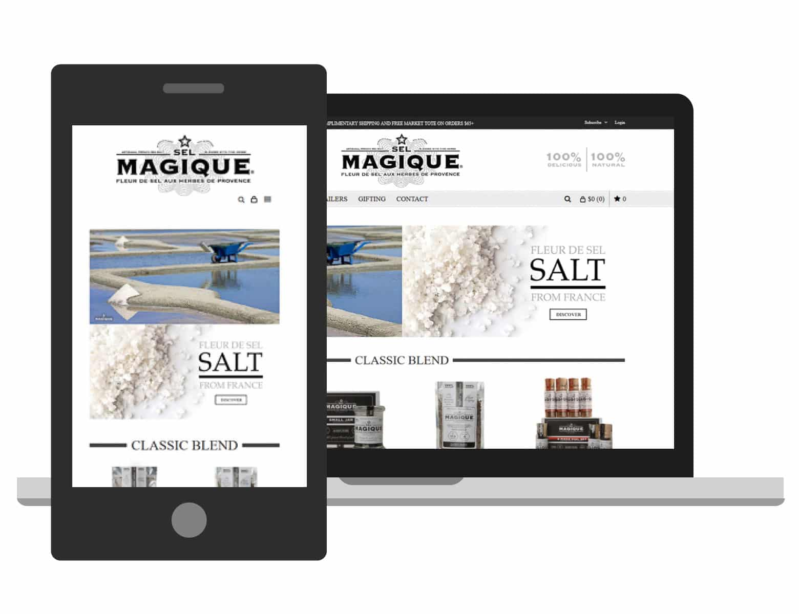 Sel Magique Herb & Salt Blends Website Hero